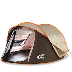 3-4 személy Sátor Dupla Automatikus sátor Egy szoba kemping sátor 2000-3000 mm Melegen tartani Vízálló Szélbiztos-Kempingezés és túrázás