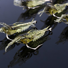 10 pçs Isco Suave / Amostras moles Ganchos de Pesca Iscas Isco Suave / Amostras moles Jerkbaits Lagostins-de-rio / CamarãoAmarelo