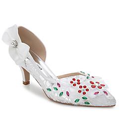 נשים-סנדלים-משי-נעלי מועדון-לבן-חתונה שטח משרד ועבודה שמלה יומיומי מסיבה וערב-עקב סטילטו