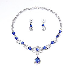 Women's Jewelry Set Bridal Jewelry Sets Rhinestone AAA Cubic Zirconia Euramerican Cubic Zirconia Rhinestone Silver Plated Alloy Crown 1