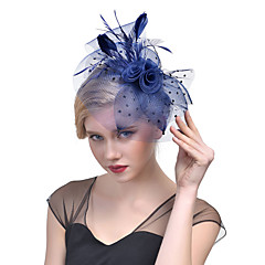 Veren Tule Net Helm-Bruiloft Speciale gelegenheden Fascinators 1 Stuk