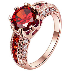 Women's Ring Engagement Ring Statement Rings Cubic Zirconia Euramerican Fashion Personalized Sterling Silver Gold Plated Rose Gold Plated For Female