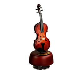 Caixa de música Instrumentos Musicais Decoração Para Festas Madeira Unisexo