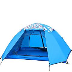 LYTOP/飞拓 3-4 사람 텐트 더블 베이스 접이식 텐트 원 룸 캠핑 텐트 유리 섬유 옥스퍼드 방수 호흡 능력 자외선 저항력 바람 방지 폴더-하이킹 캠핑 야외