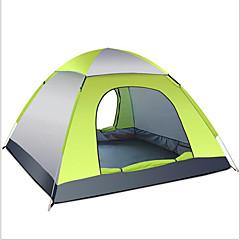 3-4 사람 텐트 텐트 악세서리 싱글 자동 텐트 원 룸 캠핑 텐트 1000-1500 mm 유리 섬유 옥스퍼드 실버 테이프수분 방지 방수 호흡 능력 자외선 저항력 비 방지 먼지 방지 안티 곤충 바람 방지 통풍 잘되는 엘라스틱 따뜻함 유지 울트라