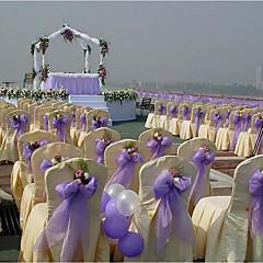 純色 結婚式のリボン ワンピース/セット オーガンザリボン