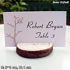 Dřevo Jmenovky na stůl Stojánek na jmenovky kartičky s číslem stolu úprava stání Umělá taška