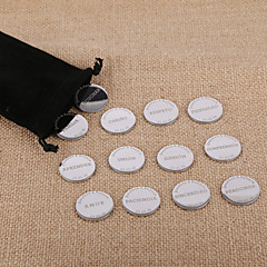 Personalized Wedding Arras Customized Spanish Unity Coins Silver Couple Arras Coins Wedding Ceremony Arras Boda 13 Pieces/Pack