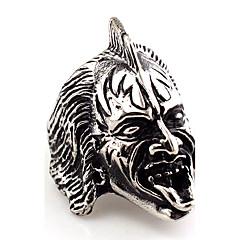 Tyylikkäät sormukset Korut Afrikka Vintage Hip-Hop Euramerican Goottityyli Statement-korut Ruostumaton teräs Animal Shape Skull shape