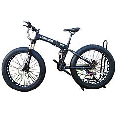 Lumipyörä Folding Bikes Pyöräily 21 Nopeus 26 tuumaa/700CC 40 mm SHIMANO 51-7 Tuplalevyjarru Etuhaarukka Alumiiniseosrunko Ilmajousitus