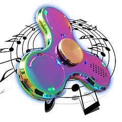 Trottole Spinner mano Giocattoli Tri-Spinner Spinner del LED Metallo EDCAltoparlante Bluetooth Stress e ansia di soccorso Giocattoli per