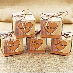 50 יחידה / סט מחזיק לטובת-חיתוך מרובע נייר כרטיסיםקופסאות קישוט תיקי קישוט קופסאות ודליי קישוט אחרים צנצנות ממתקים ובקבוקים קופסאות