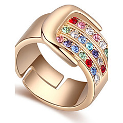 Statement Ring Austrian Crystal Movie Gift Jewelry New Euramerican Classic Luxury Gold Rhinestone Lady Party