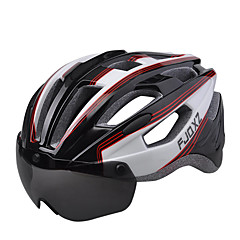 FJQXZ Unisexo Moto Capacete 17 Aberturas Ciclismo Ciclismo de Montanha Ciclismo de Estrada Ciclismo de Lazer L: 59-63 cmMaterial à