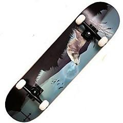 Esdoorn Dames Heren compleet Skateboards Standard Skateboards Patroon 31 Inch Lichtgewicht 608ZZ-Zwart Rood Groen Blauw