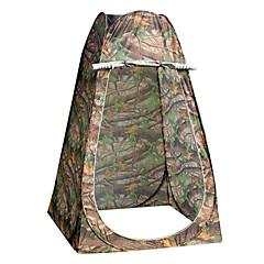 1 사람 텐트 싱글 캠핑 텐트 투 룸 접이식 텐트 수분 방지 방수 비 방지 통기성 용 하이킹 캠핑 여행 야외 2000-3000 mm 유리 섬유 옥스포드-120*120*190 CM