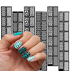 10X12PCS  Different Styles Nail Stamping Image Template Plates Stamper Scraper(Random  Style)