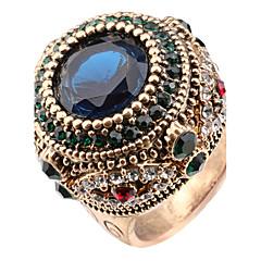 בגדי ריקוד נשים טבעות הצהרה טבעת קריסטל עיצוב בייסיק עיצוב מיוחד אבנים נוצצות אופנתי וינטאג' סגנון בוהמיה מותאם אישית Euramerican Turkish