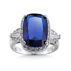 Mulheres Encaixe do Anel Anéis Grossos Anel Zircônia Cubica Gema Imitação de DiamanteBásico Original Gemas Geométrico Amizade EUA Durável