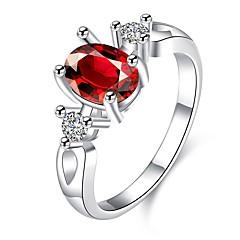 Dame Ring Krystal Kvadratisk Zirconium Enkelt design Unikt design Tatovering Natur Geometrisk Cirkel Venskab Multi-bæremåder beklædning