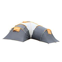 5-8 사람 텐트 더블 베이스 캠핑 텐트 트리 룸 가족 캠프 텐트 방수 방풍 자외선 방지 비 방지 폴더 통기성 용 하이킹 캠핑 야외 >3000mm 유리 섬유 옥스포드-603*523*205 CM