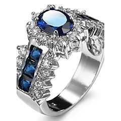 Damen Ringformen Bandringe Ring Kubikzirkonia Strass Imitation DiamantBasis Einzigartiges Design Strass Freundschaft individualisiert