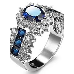 Dames Ringzettingen Bandringen Ring Kubieke Zirkonia Bergkristal imitatie DiamondBasisontwerp Uniek ontwerp Bergkristallen Vriendschap