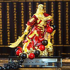 DIY autojen koriste sisustus Ping guan gong guan yu Huishen kultaa guan gong omaisuuksia helmiä auton riipus&koristeet