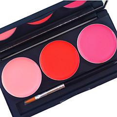 pro kit de brilho labial de 3 cores cobertura à prova d'água matte duradoura 24 horas não esfrega paleta cosmética de batom líquido