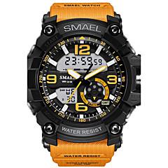 Herrn Sportuhr Modeuhr Digitaluhr Armbanduhr digital LED Wasserdicht Duale Zeitzonen Alarm leuchtend Caucho Band camuflaje Cool Schwarz