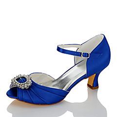 Ženske Sandale Udobne cipele Saten Ljeto Jesen Vjenčanje Formalne prilike Zabava i večer Štras Stiletto potpetica Plava 5 cm - 7 cm