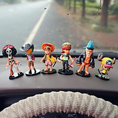Diy ornamentos automotivos piratas carro bonecas presente 6 carro pingente&Ornamentos de cristal de jade