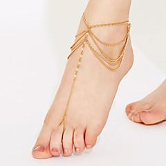 Femme Bracelet de cheville/Bracelet Cristal Perlé Multicouches Bikini bijoux de fantaisie Bijoux Bijoux Pour Soirée Plage