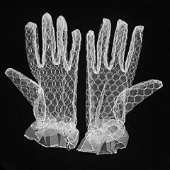 K zápěstí Bez špiček Síťované Rukavice Prodyšná síťovina průhledný Síťování Pro nevěstu Party rukavičky Podzim Léto Plisé