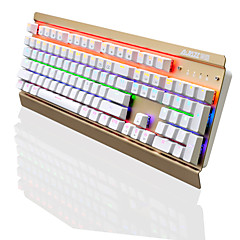 Ajazz ak70 104 keys mekaaninen pelaaminen näppäimistö keskeytetty keycap rainbow taustavalo antighosting musta kytkin