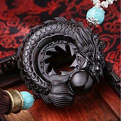 Diy auto pendentes ebony dispyyosspp decoração abençoar a boa sorte carro pingente&Ornamentos de madeira