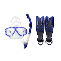 스노클링 패키지 다이빙 핀 다이빙 마스크 다이빙 패키지 스노클링 방수 다이빙 / 스노클링 수영 pvc 실리콘 레드 옐로우 블루