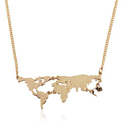 Men's Women's Pendant Necklaces Jewelry Irregular Gold Plated Alloy Geometric Punk Jewelry For Gift Casual