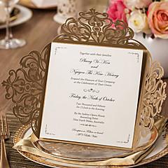 Открытка-карман Свадебные приглашения 20-Пригласительные билеты Классический Тиснённая бумага