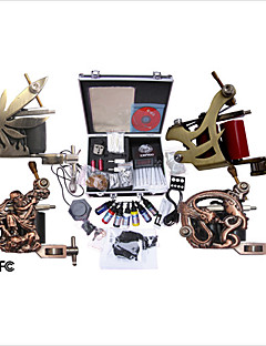 professionele tattoo machine kit aangevuld set met 4 tattoo pistool mahcines