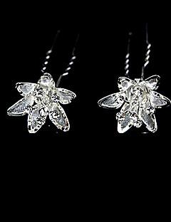 lindo cristais transparentes pinos casamento nupcial / flores 2 peças