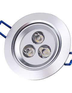 3 W 3 High Power LED 250 LM Warm White Recessed Retrofit Recessed Lights / Ceiling Lights AC 85-265 V