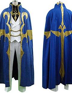 Inspirerad av Kod Gease Suzaku Kururugi Animé Cosplay Kostymer/Dräkter cosplay Suits Lappverk Blå Lång ärm Kappa / T-shirt / Byxor
