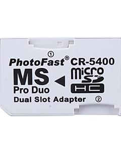 doppio microSD / hc per MS Pro Duo memory card adattatore (bianco)