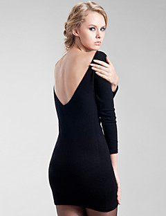 Women's Open Back Cashmere Bodycon Dress