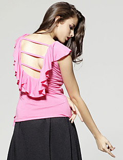 TS Backless Ruffle Blouse Shirt