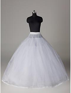nylon balklänning fullt klänning 8 klassens golv längd slip stil / bröllop underkjolar