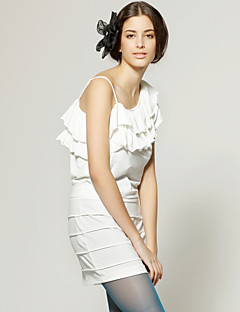 TS One Shoulder Rows Of Ruffles Straps Dress