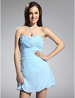Cocktail Party Homecoming Dress - Celebrity Style Sheath / Column Strapless Sweetheart Short / Mini Chiffon with Criss Cross