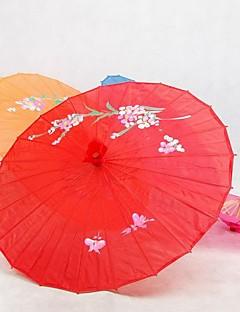 Red Silk Parasol